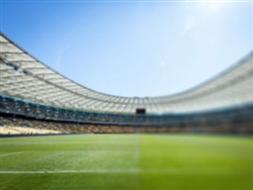 Budynek zaplecza na stadionie miejskim w Malborku