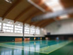 Sala gimnastyczna przy Publicznej Szkoły Podstawowej w Mokrem
