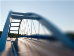 Most nad rzeką Mitręga na DP 4706 S
